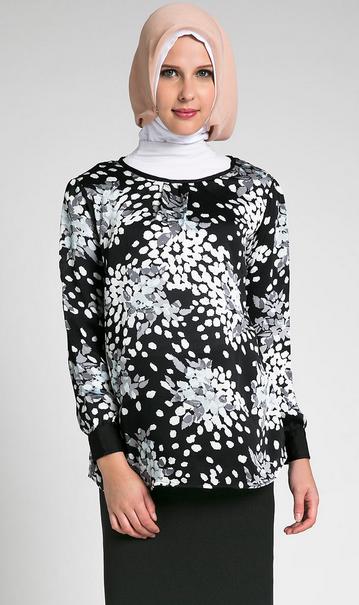 Gambar Model Baju Batik Muslim Untuk Pesta