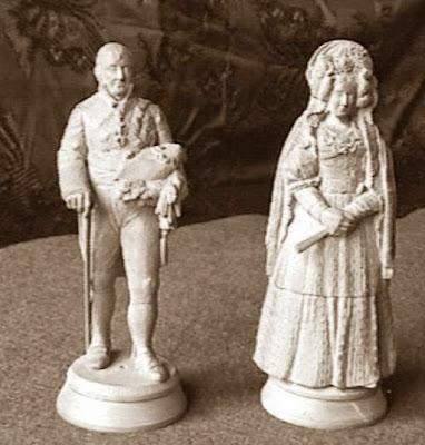 Cuarto juego de ajedrez, Fernando VII y María Cristina de Borbón, rey y reina blancos