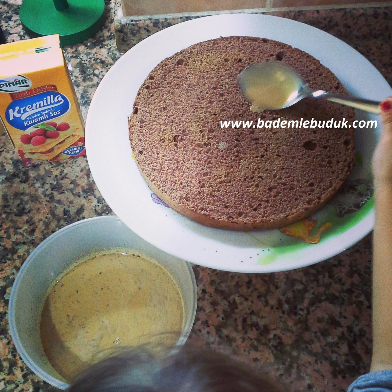 pınar kremilla ile pasta