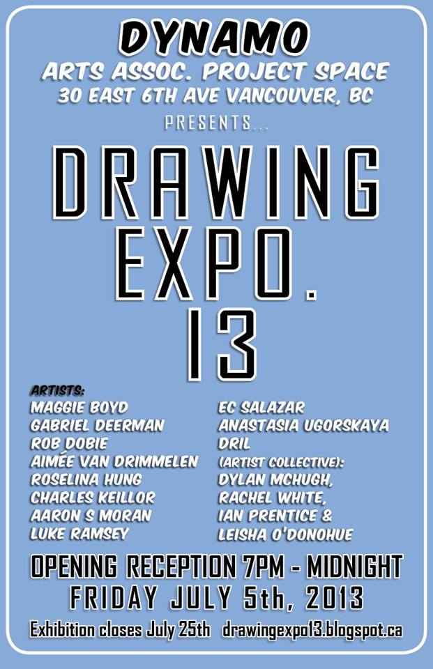 drawing expo, vancouver, BC, Canada