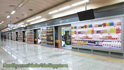 Seoul subway Seolleung virtual store