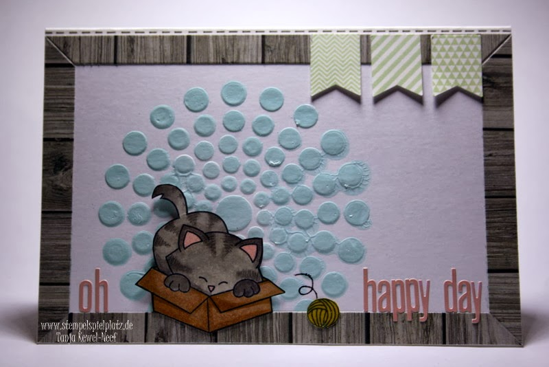 Kitty Card byTanja using Newton's Nook Designs Stamps