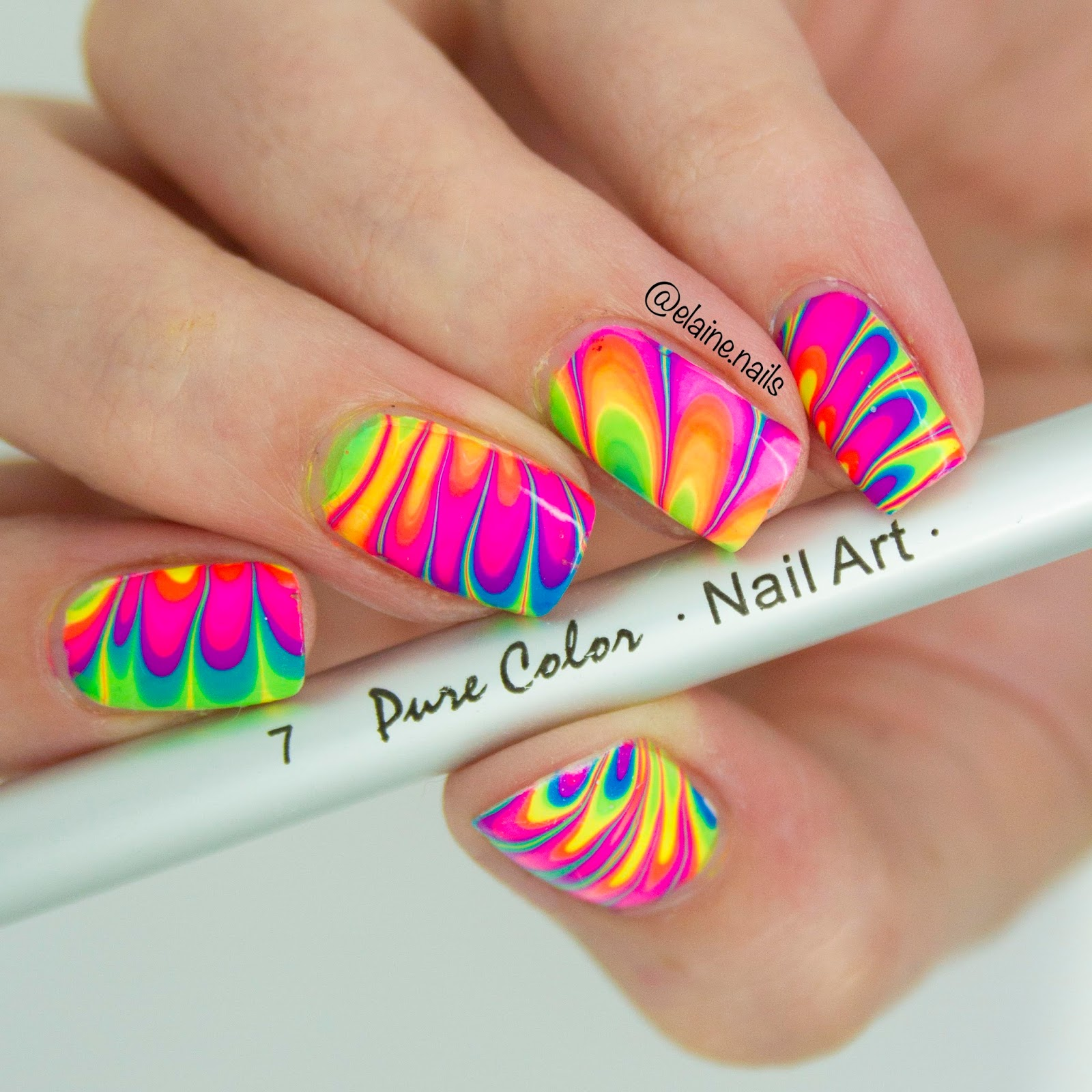 Elaine Nails: What\'s Up Nails Watermarble Tool Review