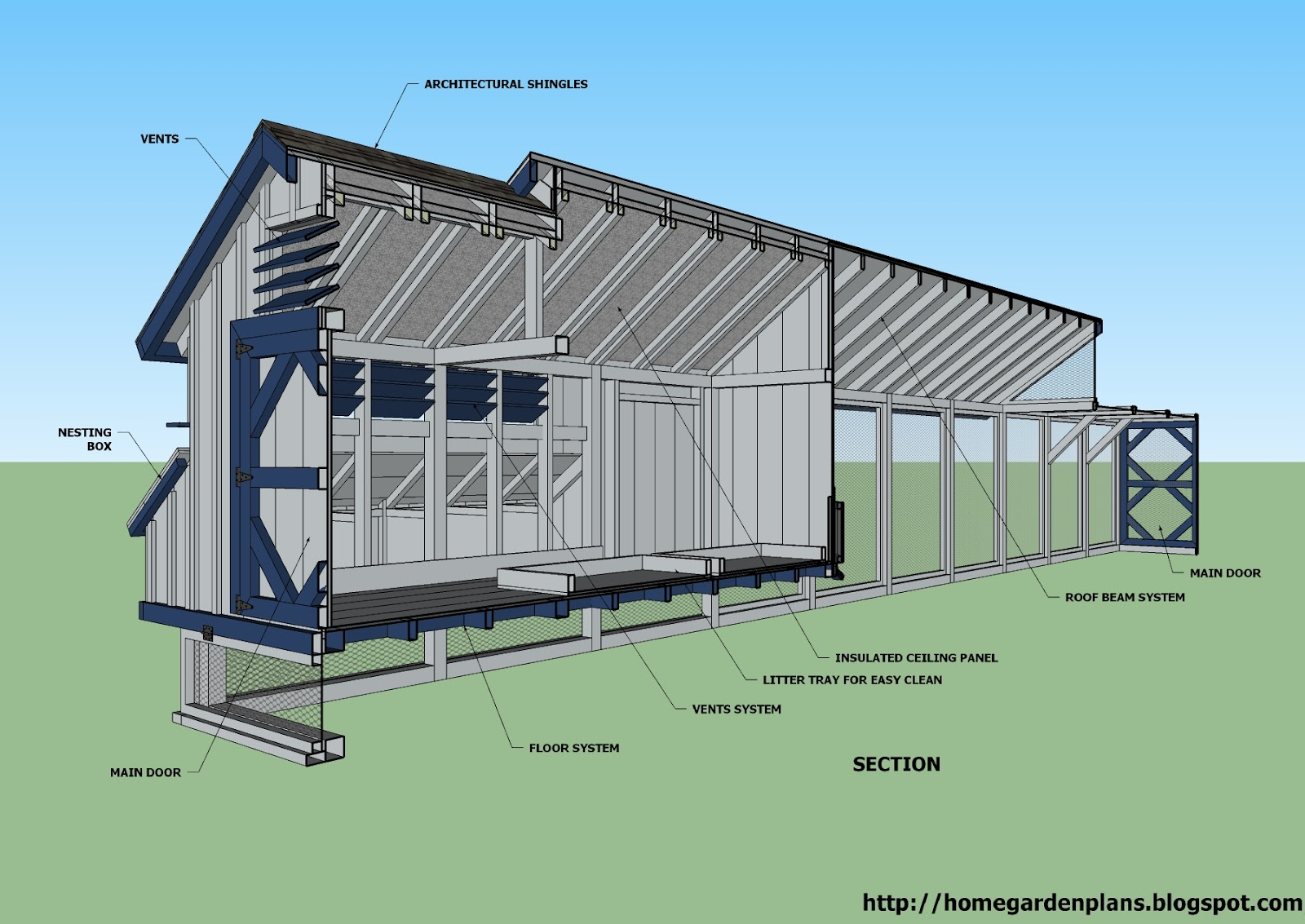 plans for a large chicken house - house plans