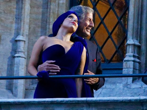 Lady Gaga and Tony Bennett in Brussels, Belgium