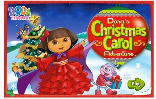A CHRISTMAS GAME  WITH  DORA