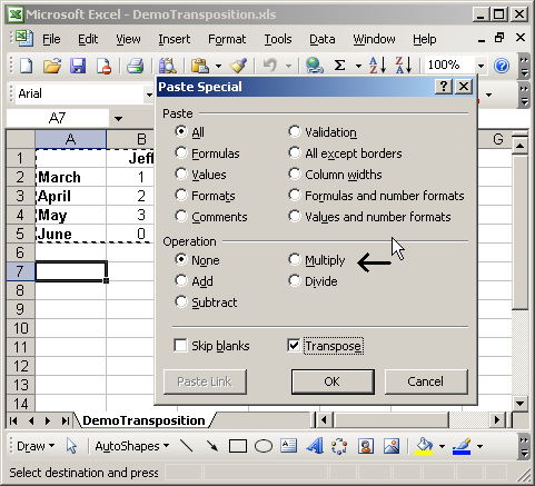 Convert Text Format Numbers Using Paste Special