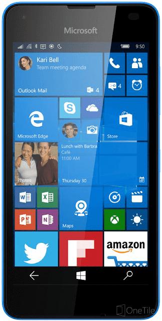 Lumia 550 blue