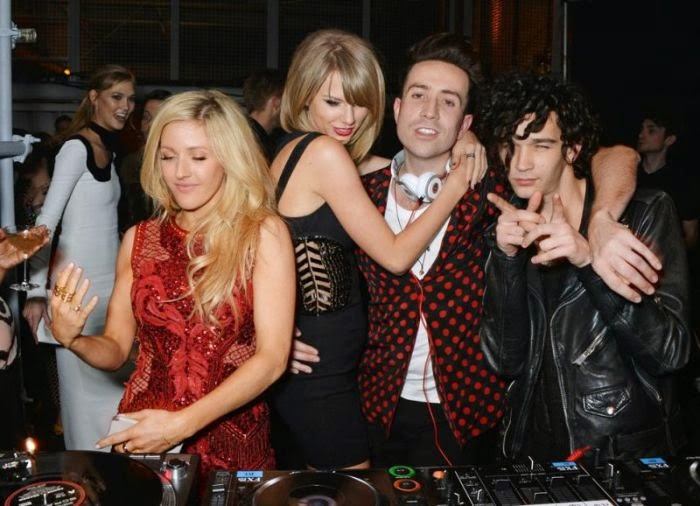 Speaking of playful, we absolutely loved the fun dissimilarities of color that Ellie Goulding and Taylor Swift wore this week.  The stars made quite the style statement on the Universal Music Group after party following the BRIT Awards 2015 at Soho in London on Wednesday, February 25, 2015.