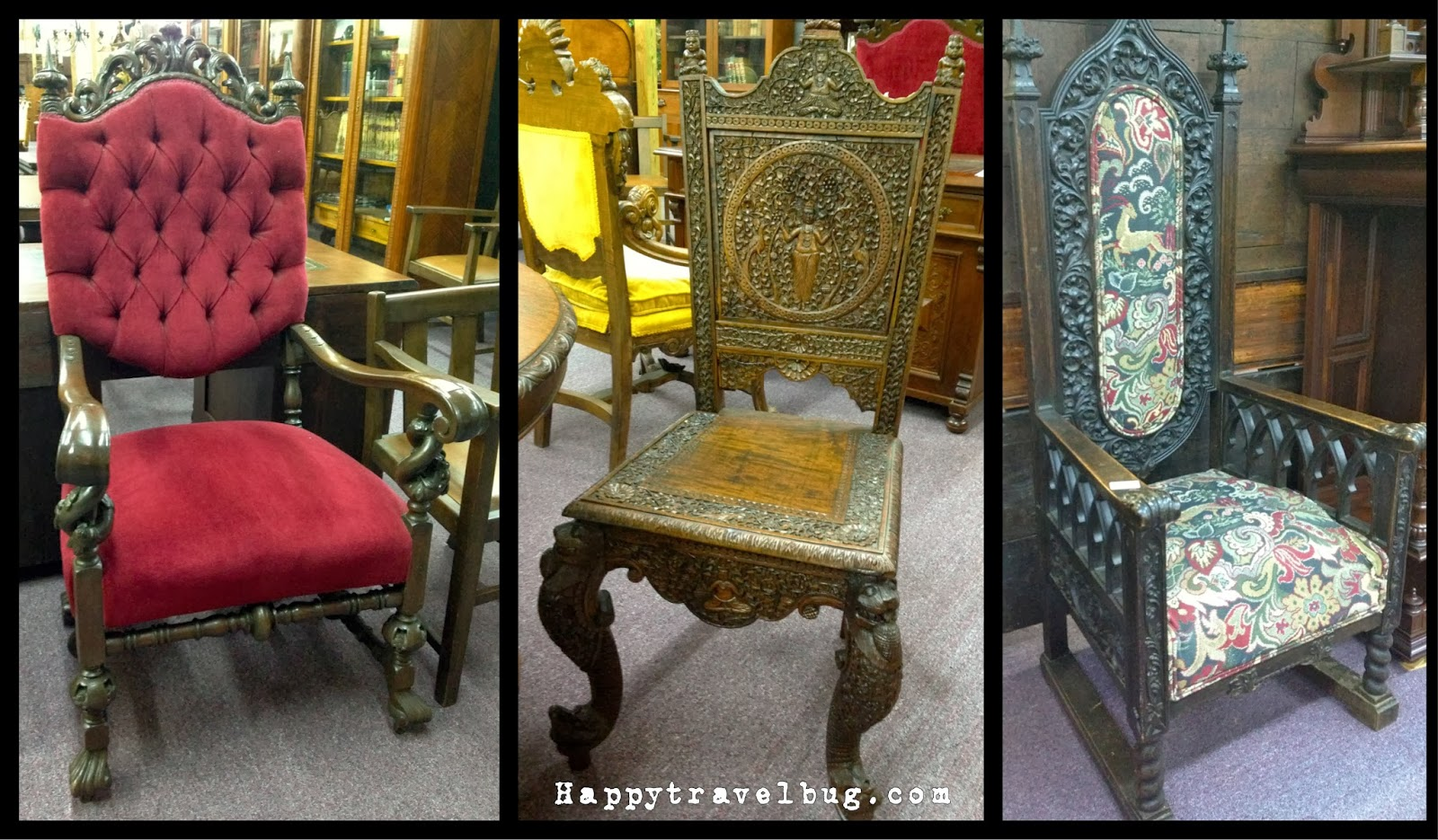 Antique chairs from Morris Antiques in Keo, Arkansas