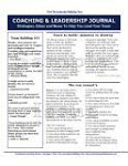 The Coaching & Leadership Journal