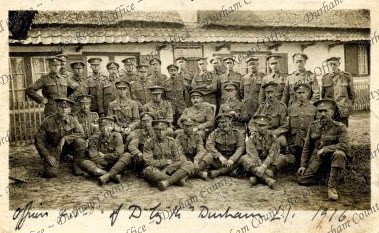 Officers of 'D' Company, 14th Battalion, Durham Light Infantry, 1916 (D/DLI 7/805/73)