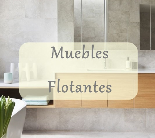tendencia baos muebles flotantes
