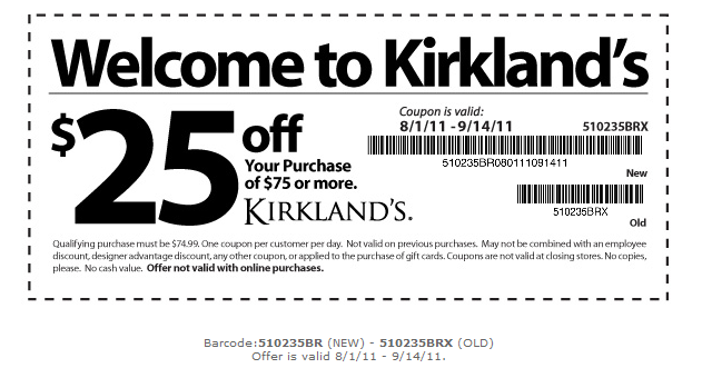 Kirklands coupons 2019
