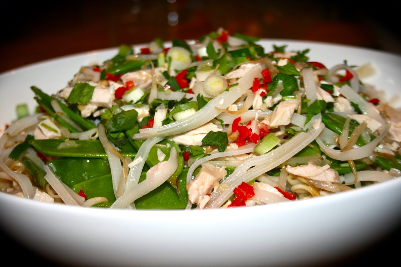 Not Just A Pretty Plate: Vietnamese Turkey & Rice Noodle Salad