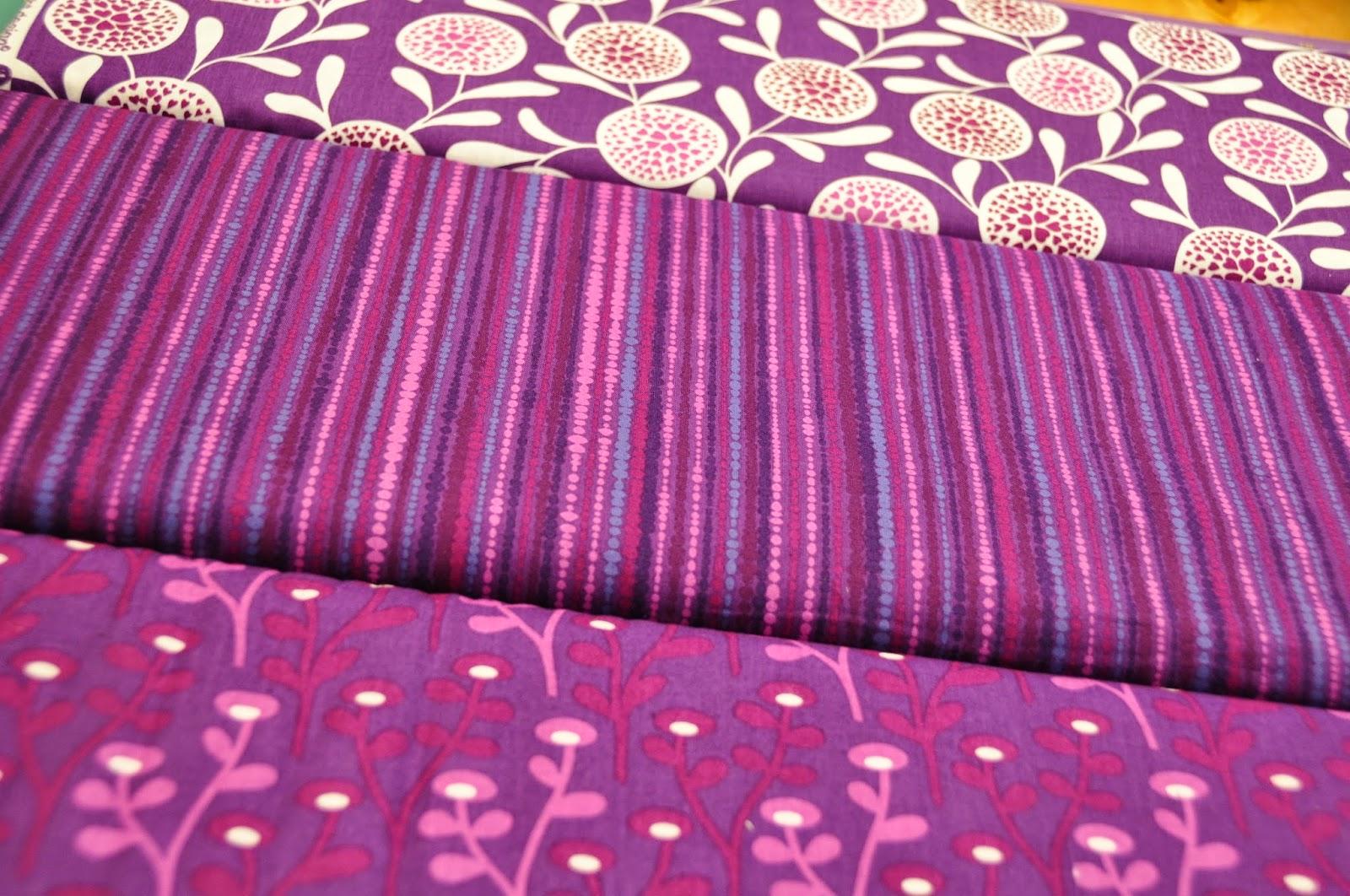 Stoffstreifen Patchwork Stoffe pink lila SAUSALITO COTTAGE von Lakehouse