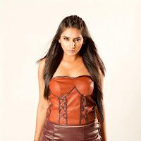 Ragini divedi bold look for Ragini IPS in leather dress