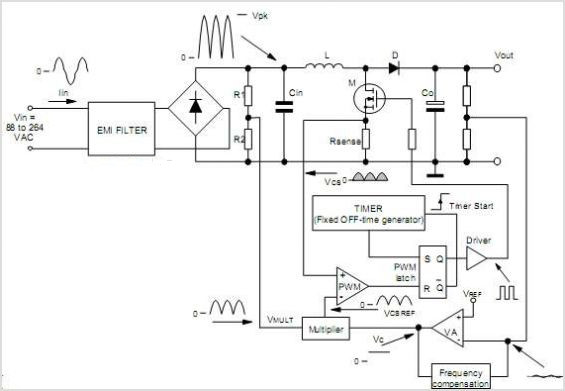 electronic circuit design of fixed off time controlled pfc pre rh kenwilliam123 blogspot com Basic Electrical Schematic Diagrams pfc wiring diagram
