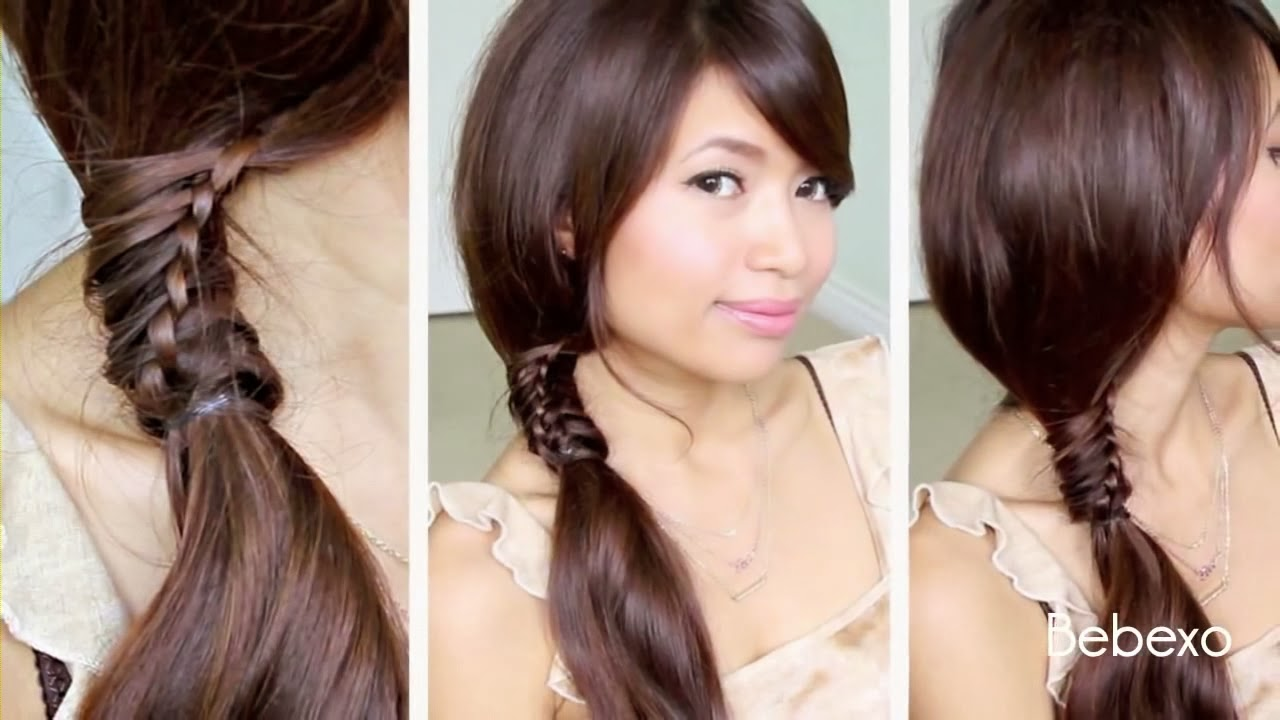 lulu model cara menata rambut how to do a braided chignon model rambut