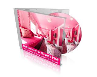 desain interior nuansa pink