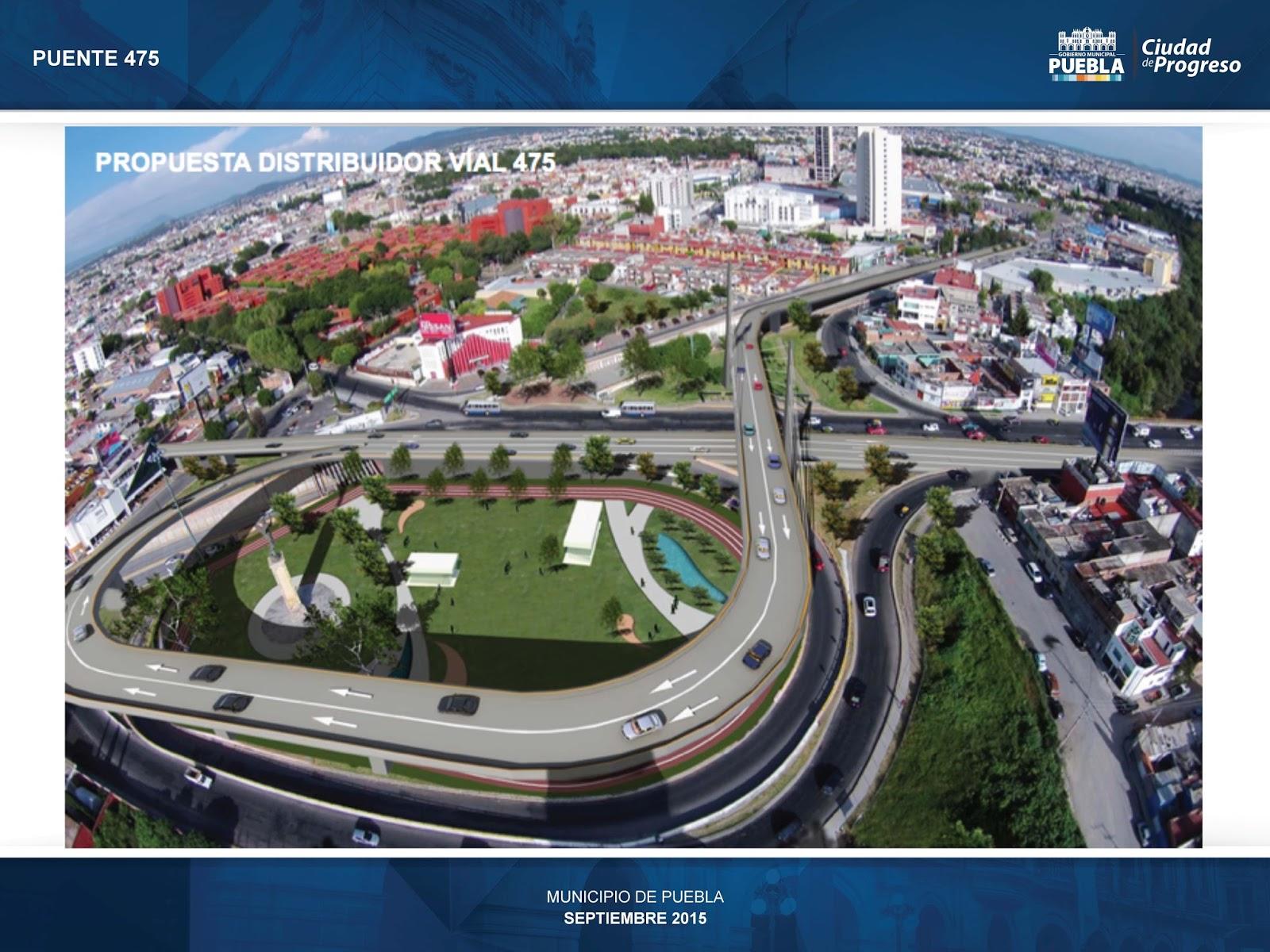 Circuito Juan Pablo Ii : Proponen ampliación del puente en la ciudad de puebla