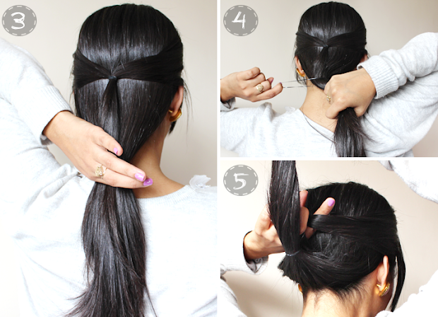 quick & easy 2 minute casual updo