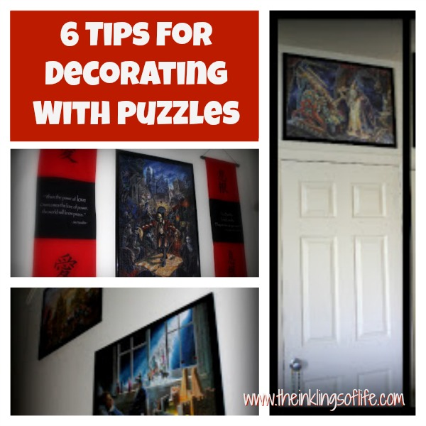 The Inklings of Life: 6 Tips for Decorating with Puzzles