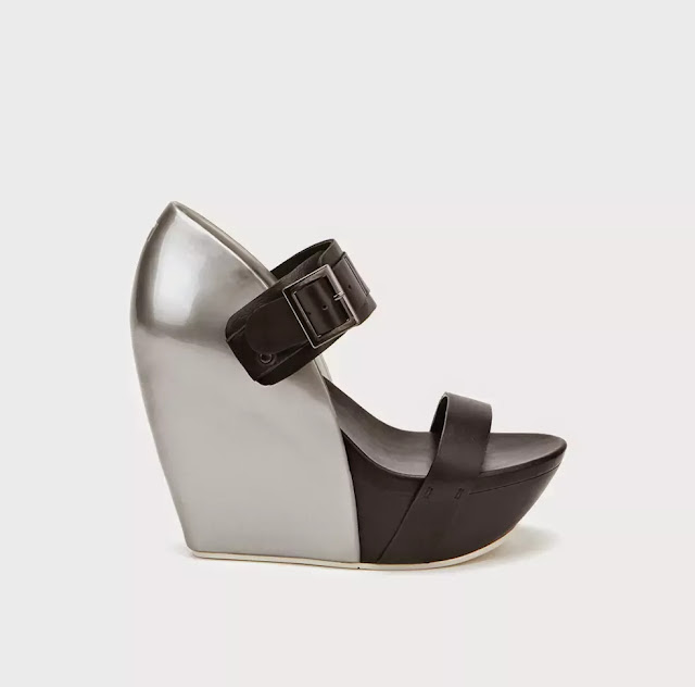 United Nude mixed-media wedge sandal