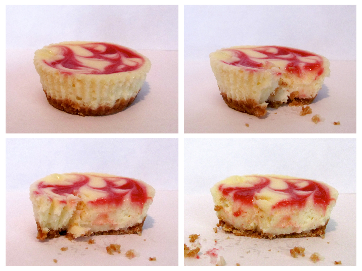 Buffalove Baking: Raspberry Marble Cheesecakes