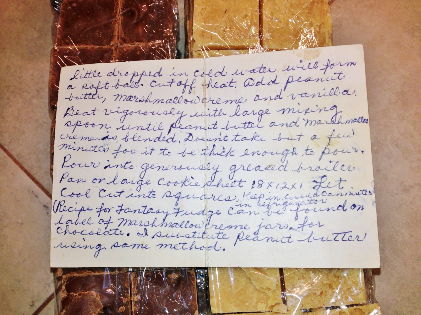 Dying for Chocolate: Granny Hollin's Peanut Butter Fudge: Janet ...