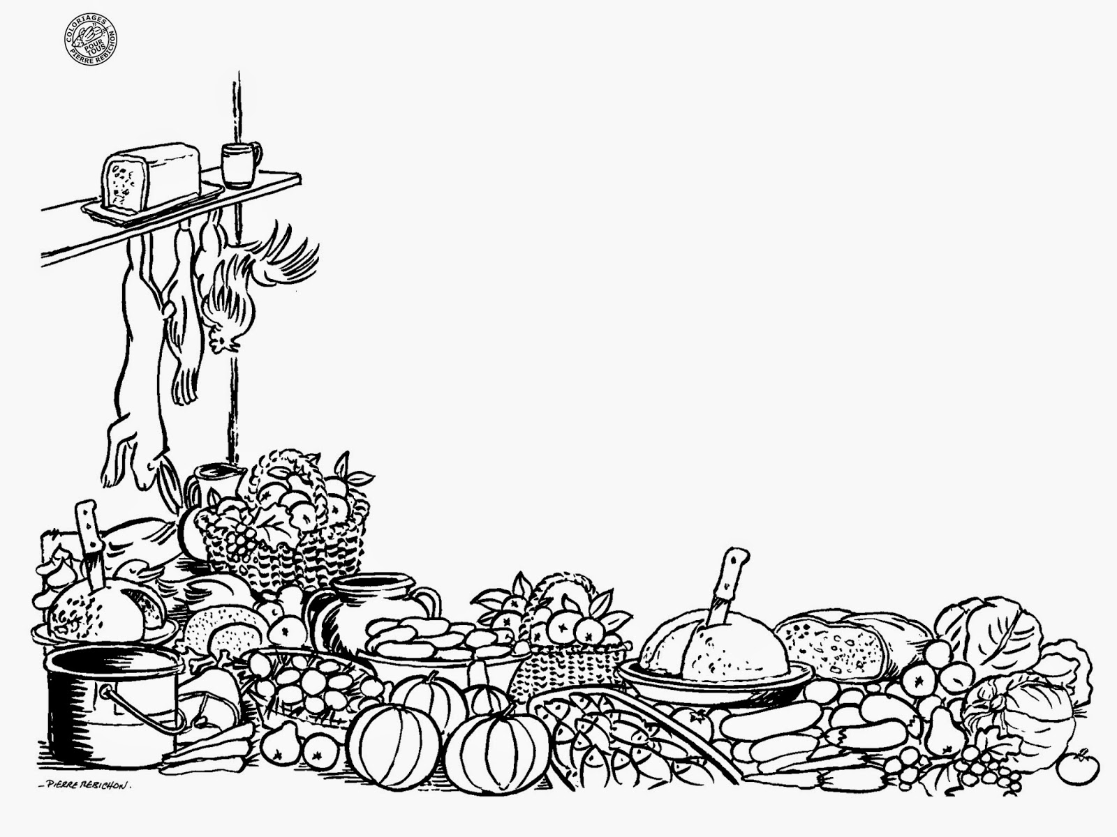 Coloriage nature printemps liberate - Image nature morte imprimer ...
