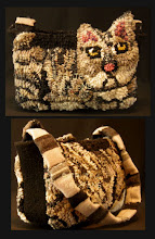 Rug Hooked Cat Purse Pattern