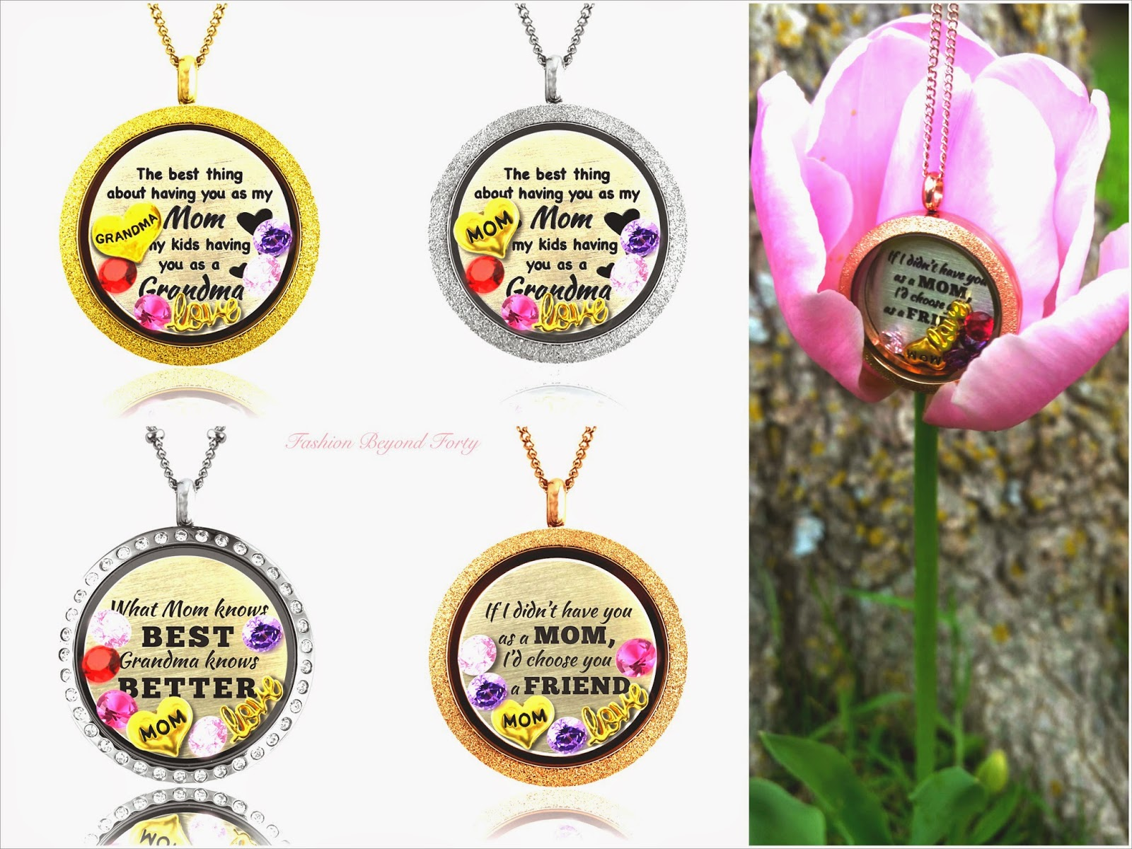 Mother's Day is Dazzling with Floating Charms Locket Necklaces From A Touch of Dazzle