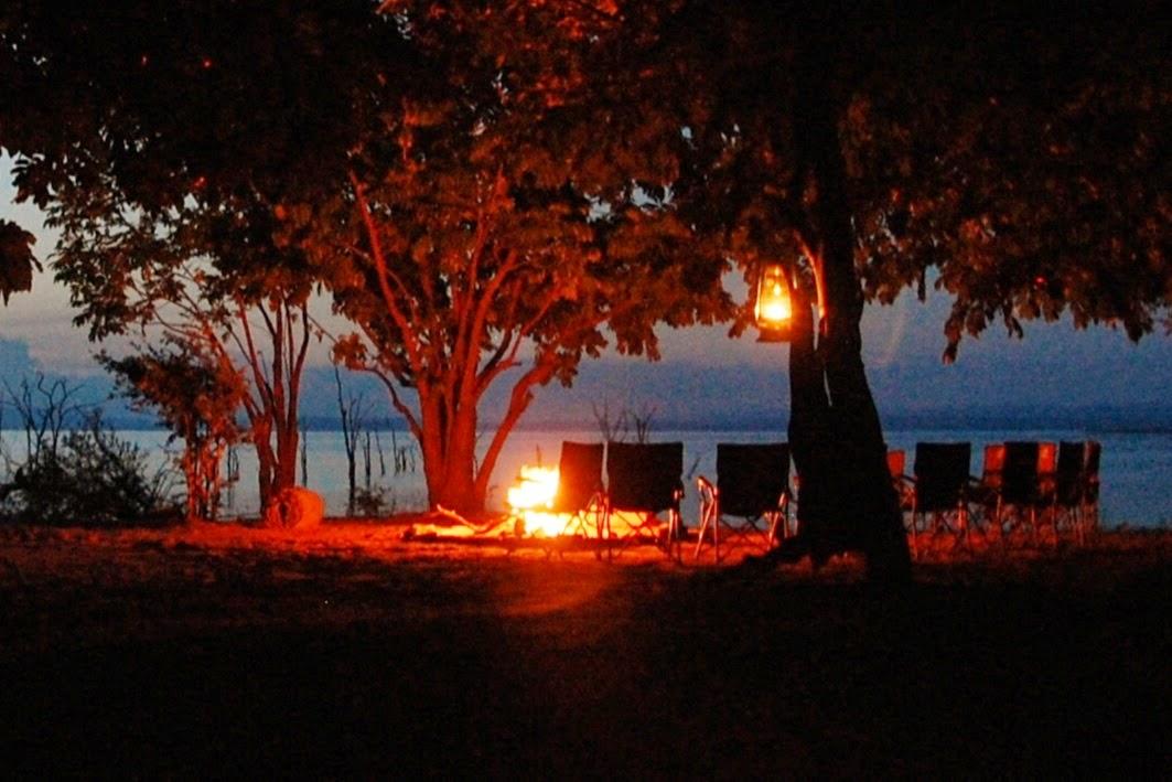 Campfire at Rhino Safari Camp