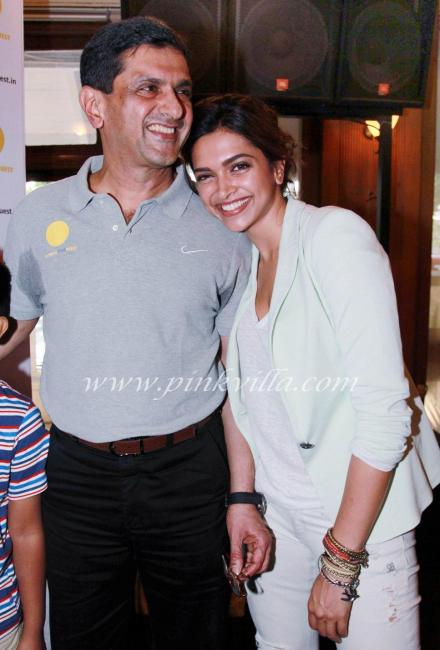 Deepika Padukone with dad at the OCG felicitation for ...