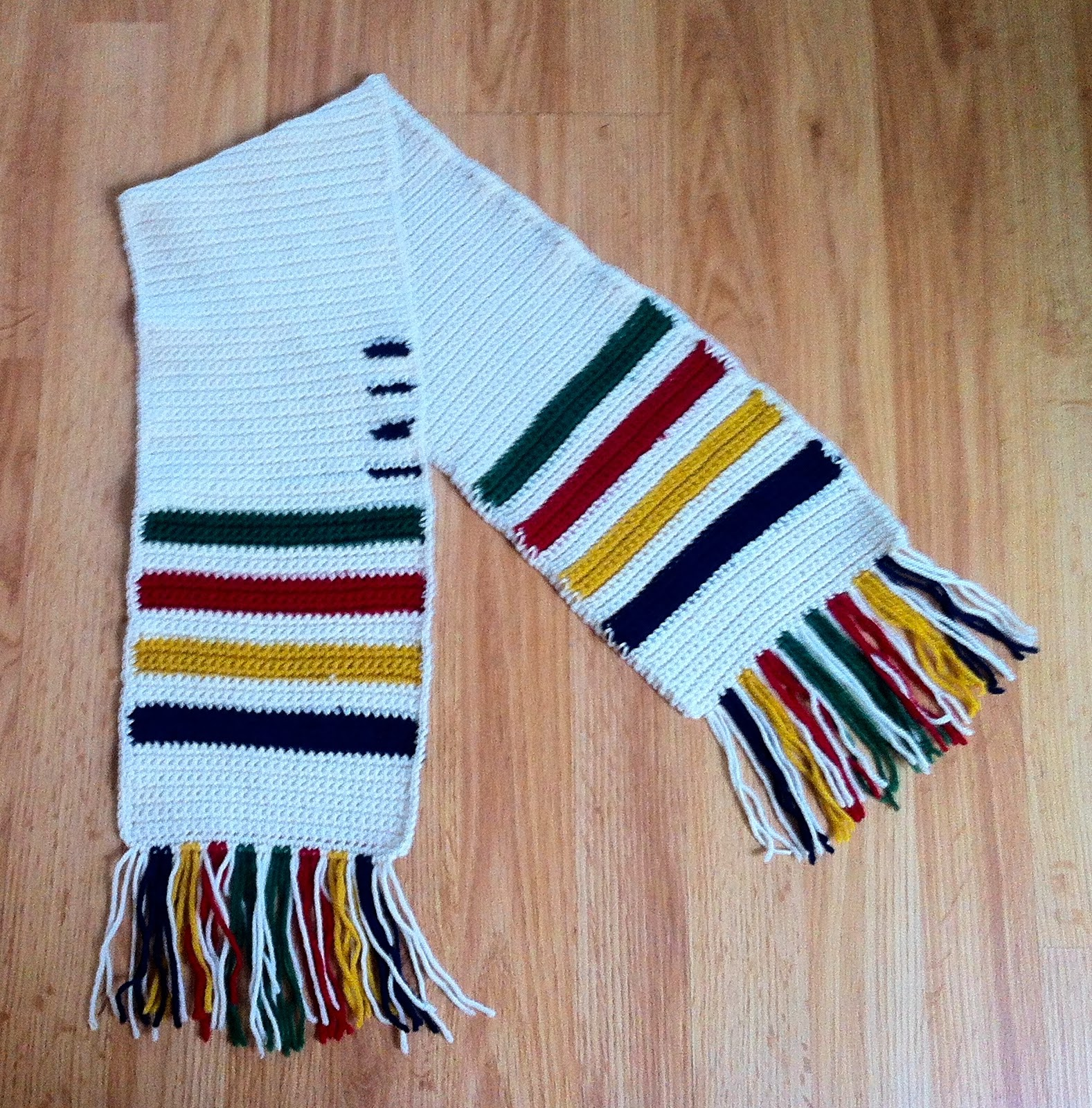 Knitting Pattern For Hudson Bay Blanket : Hudsons Bay Blanket Crochet Scarf The Way I Crochet