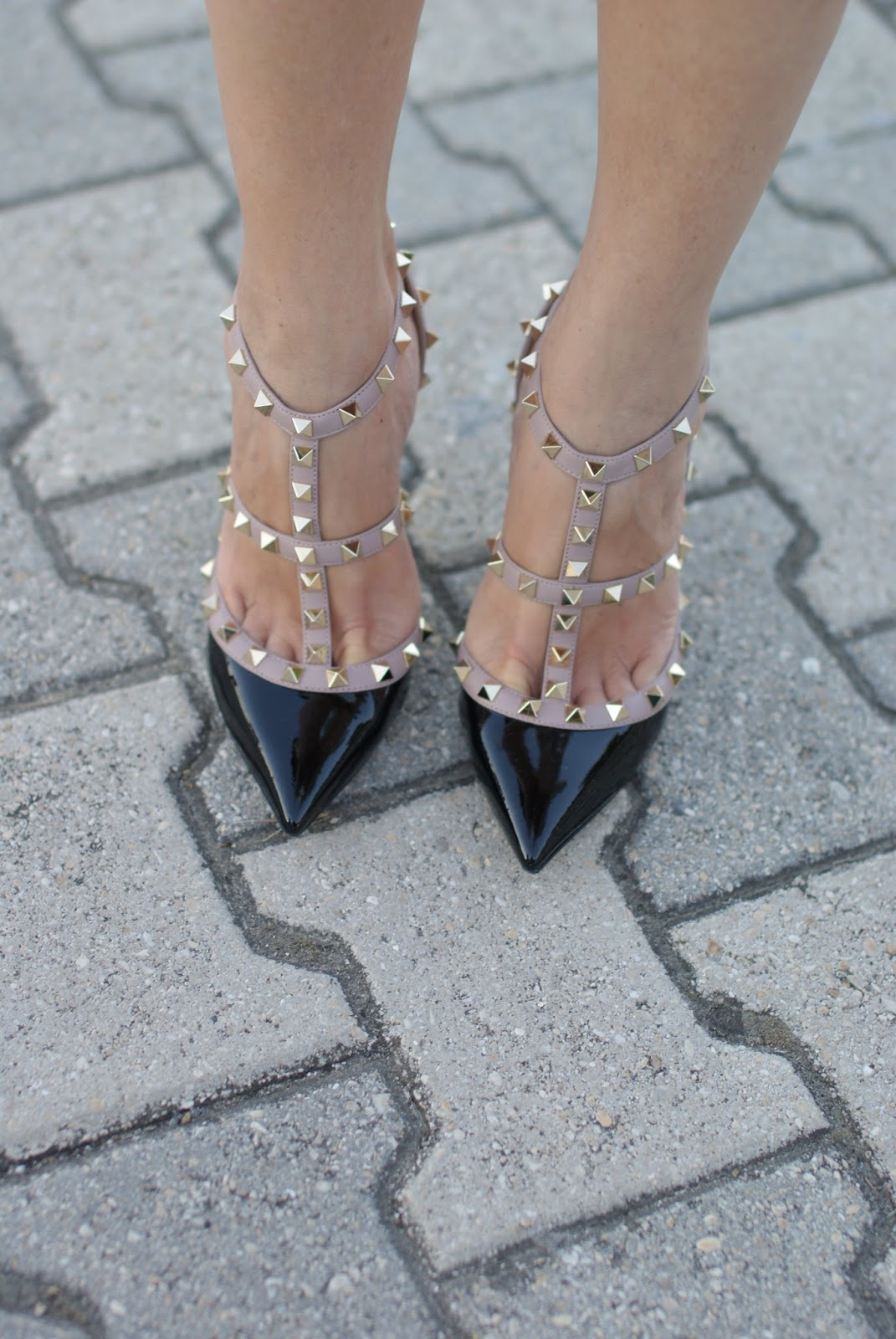 patent leather valentino rockstud pumps on Fashion and Cookies