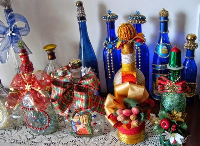 Natal com garrafas decoradas - Botellas decoradas navidenas ...