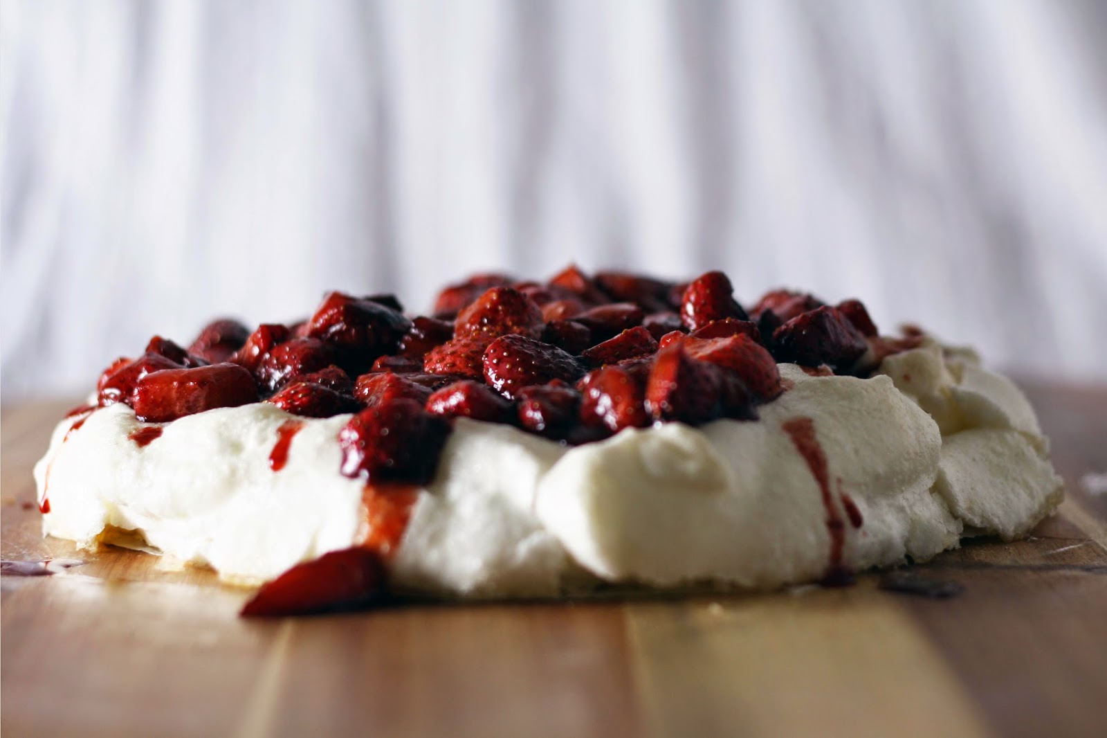 Passover Pavlova with Maple Roasted Strawberries | Sevengrams