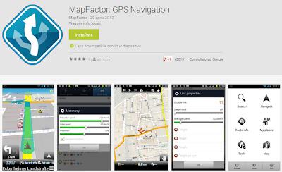 MapFactor - Android app per navigare con GPS