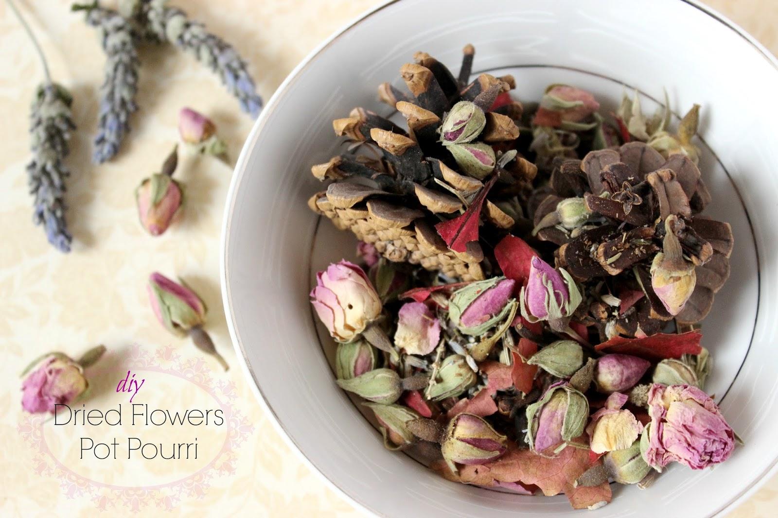 Diy Dried Flowers Pot Pourri Ef Zin Creations