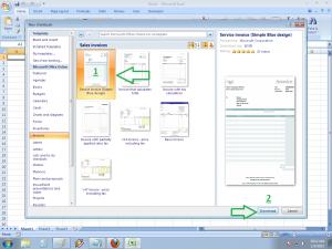 Cara membuat invoice dengan menggunakan Template Microsoft Excel