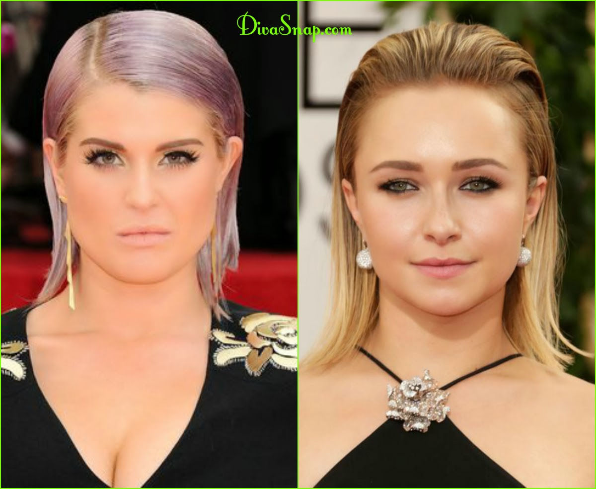 RECAP FASHION HAIR DIVA: KELLY OSBOURNE & THEM STUNNING CIARA SLICK BACK HAIR STYLE AT THE GOLDEN GLOBE AWARDS-DivaSnap.com