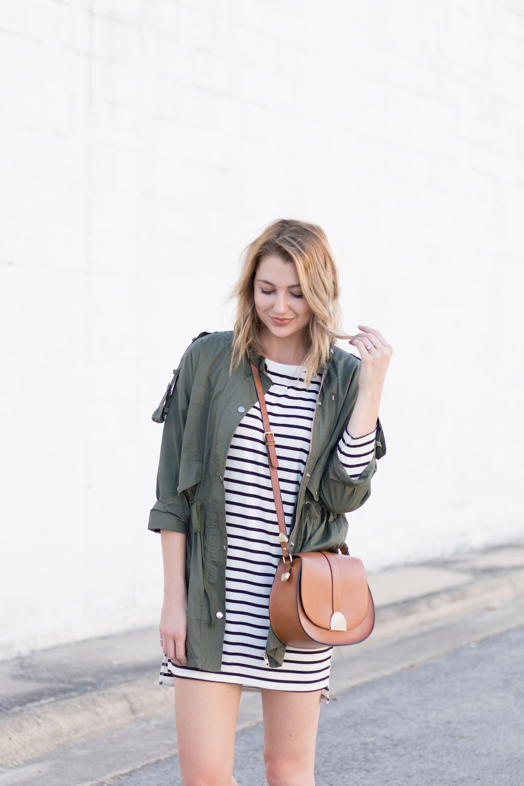 How to layer with a stripe dress