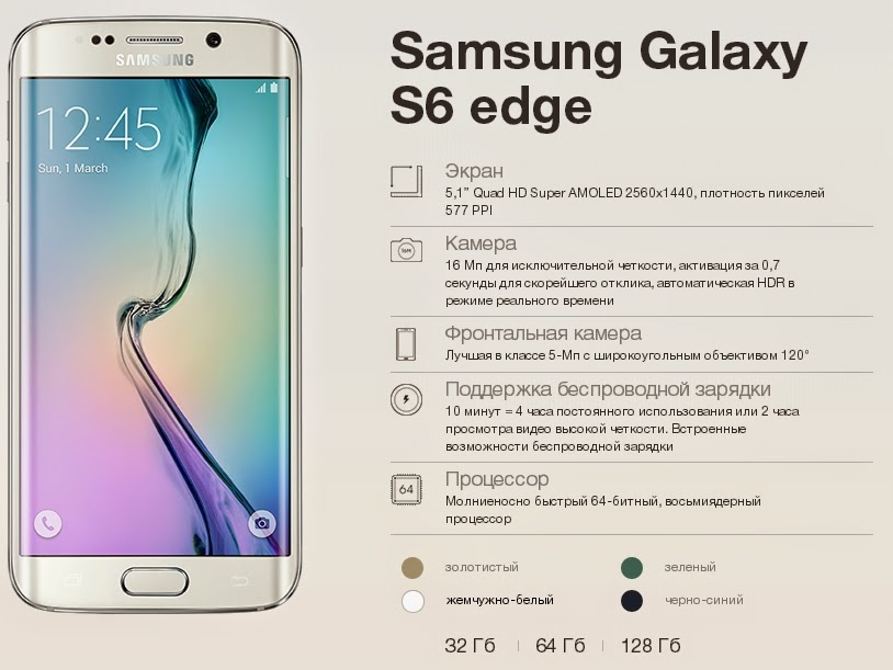 Старт продаж нового смартфона Samsung Galaxy S6 edge