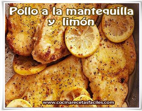 Recetas de pollo , pollo a la mantequilla y  limón