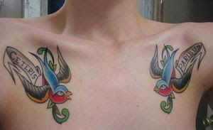 Swallow Tattoo, Tattooing