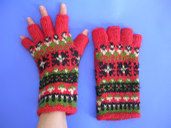 Peace Fleece Baltic Mittens - Hobo Glove version
