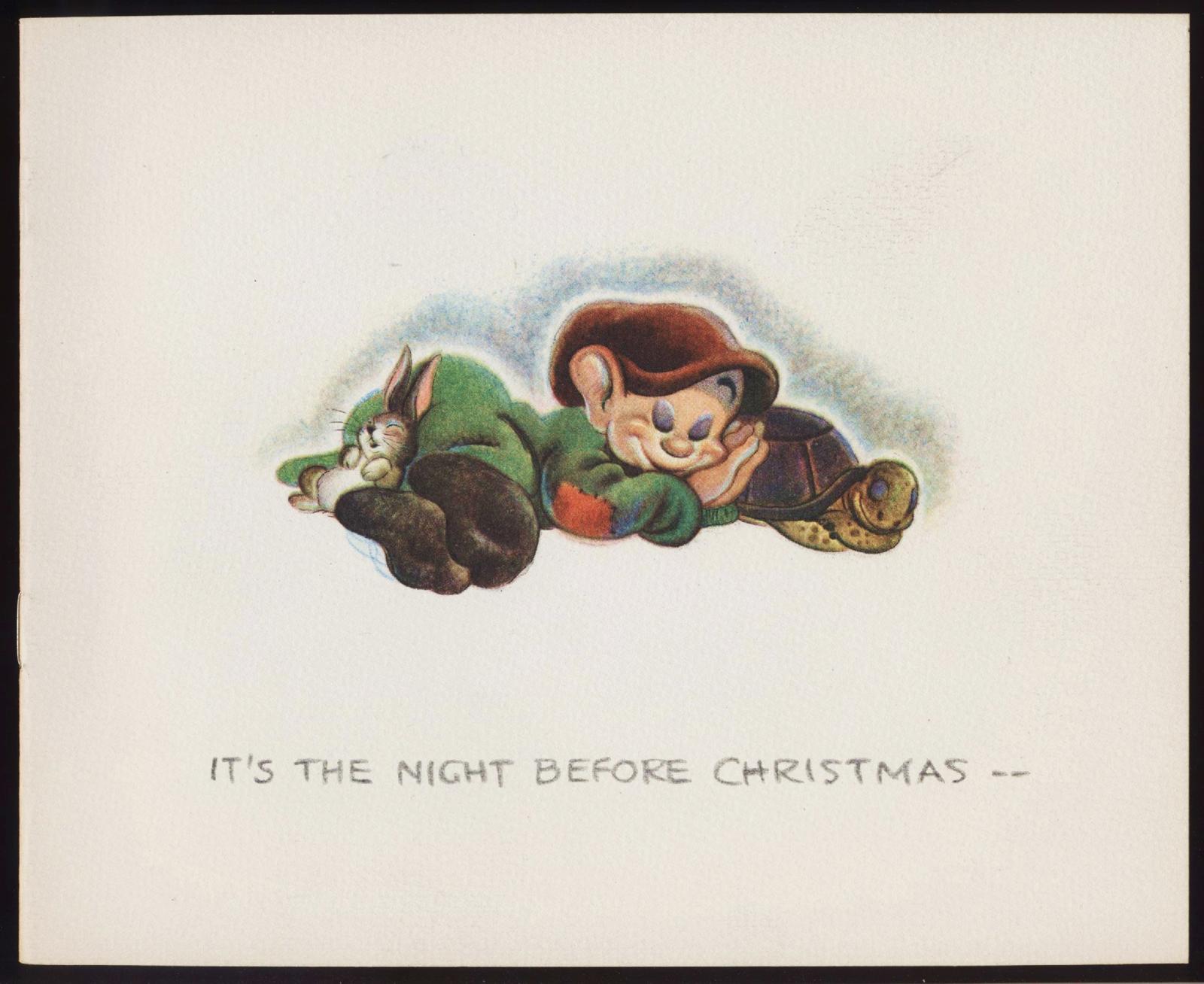 Filmic Light - Snow White Archive: Disney Studio Xmas Cards, 1938-39