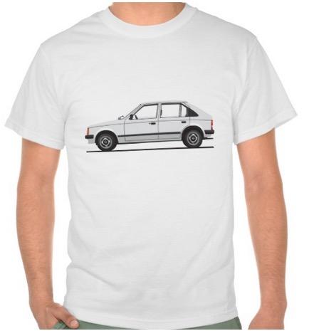 Opel Kadett D - Vauxhall Astra Mark 1 t-shrits